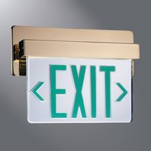 dual lite thermoplastic led emergency exit sign pinterest