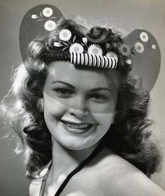 GLAMORGLO PLASTIC HATS, 1940S
