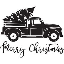 Tis the Season Vintage Truck with Tree Stencil mil plastic) Lion Silhouette, Silhouette Design, Silhouette Cameo Projects, Silhouette Files, Christmas Stencils, Christmas Vinyl, Christmas Truck, Christmas Shirts, Christmas Projects