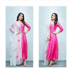 Silk Kurti Designs, Churidar Designs, Kurti Designs Party Wear, Kalamkari Dresses, Salwar Dress, Anarkali, Salwar Kameez, Frock Fashion, Women's Fashion Dresses