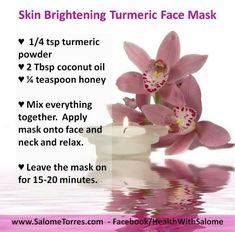 Skin Brightening Tumeric Mask for Face Tumeric Masks, Turmeric Face Mask, Turmeric Facial, Vaseline Beauty Tips, Natural Beauty Tips, Diy Beauty, Homemade Beauty, Organic Beauty, Beauty Secrets