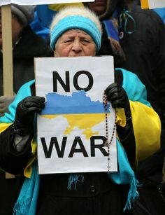 Toronto 2-3-2014: Demonstration against the Russian invasion of Ukraine.