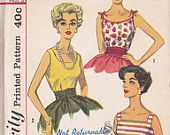 Great 1950s top pattern Simplicity 3021 Size 14 Bust 34 Simple to Make