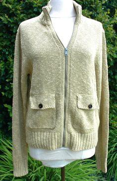 W's Lucky Brand Deadwood Full zip Sweater Light Green Sz M $129.00 NWT #OriginalLuckyBrandCalifornia #FullZip