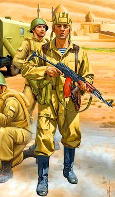 Soviet Spetsnaz trooper in Afghanistan