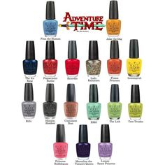 """Adventure Time"" Nail Polish !!!!"