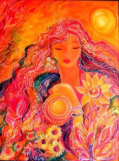 Goddess of Fire Painting by Ronnie Biccard - Goddess of Fire Fine Art Prints and Posters for Sale