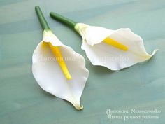 Ready for shipment Brooch Calla Lily Hair by SaisonRomantique