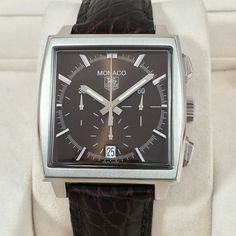 Tag Heuer Monaco chronograph Brown – 5 cool finds catawiki - 2 Relojes 306bf665ad20