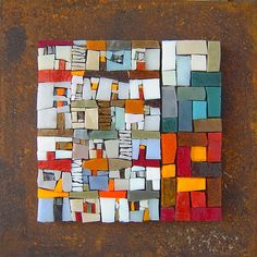 Contemporary mosaics - Michelle Combeau Plus Stone Mosaic, Mosaic Glass, Glass Art, Stained Glass, Mosaic Crafts, Mosaic Projects, Mosaic Designs, Mosaic Patterns, Mosaic Wall Art