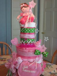 Princess Diaper Cake:-))