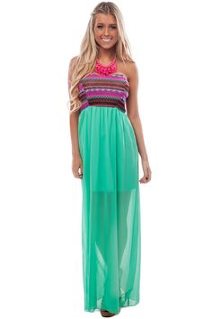 Lime Lush Boutique - Mint Chiffon Vibrant Embroidered Top Maxi, $39.99 (http://www.limelush.com/mint-chiffon-vibrant-embroidered-top-maxi/)
