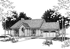 Home Plan HOMEPW06126 - 1546 Square Foot, 3 Bedroom 2 Bathroom + Cottage Home with 0 Garage Bays | Homeplans.com