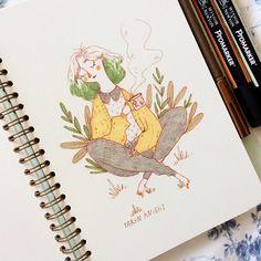 illustrator, tea drinker, woodland-dweller blog☁️taryndraws.tumblr.com shop  taryndraws.etsy.com snapchat  anxiousghosts  tarynsketch@gmail.com