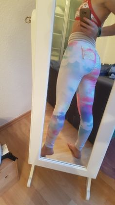 092271548e9 Gradient Rainbow Print Women Workout Leggings with Pockets Fitness leggings