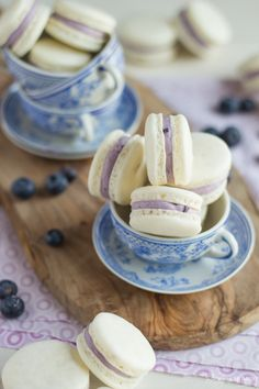 Blueberry Mascarpone Macarons