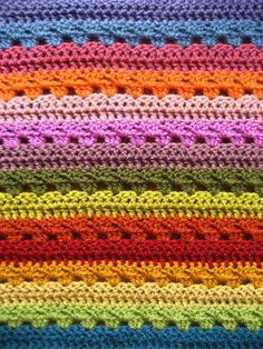 Lucy's Cosy Stripe Blanket. Crochet along link: Lucy's Cosy Stripe Blanket. Crochet along link: Crochet Simple, Double Crochet, Crochet Baby, Free Crochet, Knit Crochet, Attic 24 Crochet, Crochet Shawl, Motifs Afghans, Afghan Crochet Patterns