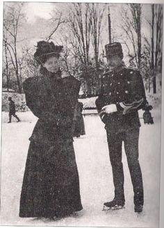 Marie and Ferdinand ice skating Romanian Royal Family, Ferdinand, Edinburgh, Descendants, Memories, Queen, Royals, History, Ice Skating