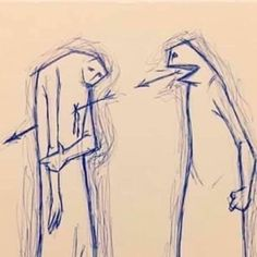 Sad Drawings, Dark Art Drawings, Art Drawings Sketches, Meaningful Drawings, Meaningful Pictures, Pictures With Deep Meaning, Words Can Hurt, Satirical Illustrations, Dark Art Illustrations