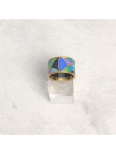 Michaela Frey Damenring Motiv Bunt vergoldet Designer Ring ID: Michaela, Ring Designs, Bunt, Designer, Gemstone Rings, Gemstones, Jewelry, Enamel, Ring