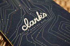 Menu design at Clarks Oyster Bar in Austin, Texas