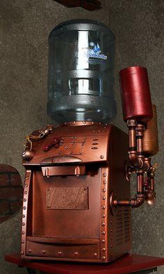 Steampunk Beverage Dispenser designed by Kevin Flyn Robots Steampunk, Steampunk Coffee, Corset Steampunk, Steampunk Gadgets, Steampunk House, Steampunk Design, Steampunk Clothing, Steampunk Fashion, Steampunk Kitchen