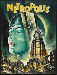 wonderful movie poster of Metropolis - check out some of our top10 alternative movie poster lists on http://www.cautioustrain.com/blog