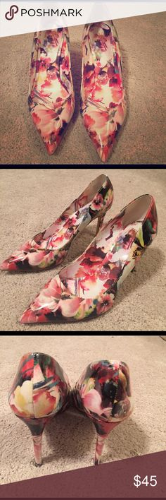 Truth or Dare floral heels Floral heels by Madonna Truth or Dare by Madonna Shoes Heels