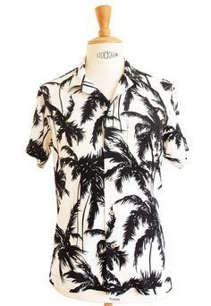 eb280c91c34e46 men summer fashion - beach wear - holiday outfit - men s outfit - palm  design shirt