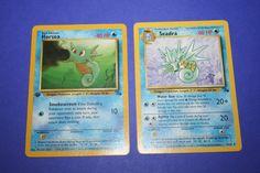 2 Pokemon Cards - Horsea and Seadra by LiveLoveCraftDesignz on Etsy Pokemon Cards, Handmade Gifts, Baseball Cards, Etsy, Art, Craft Gifts, Hand Made Gifts, Pokemon Trading Card, Homemade Gifts