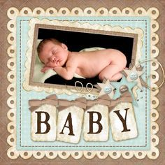 baby boy scrapbook pages - Google Search