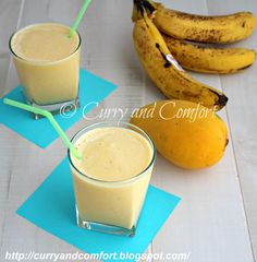 Curry and Comfort: Pineapple Mango Banana Smoothie (Dairy Free)
