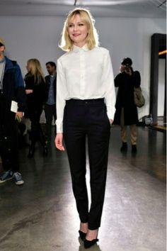 Kirsten #Dunst- black and white #workchic