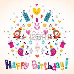 Tarjeta del feliz cumpleaños Stock Vector
