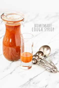 This recipe for Homemade Cough Syrup and Sore Throat Soother is a great natural remedy for lingering coughs and sore throats associated with winter colds. This combo of lemon juice, apple cider vinegar, honey, cayenne, ginger, and water will help keep you feeling healthy this winter. Love my @weckjars