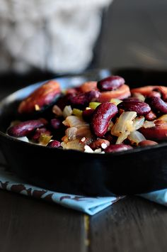 Red Beans and Rice. I want to fix for the weekend. Sounds yummy for a lazy Sunday,