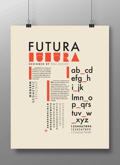 Futura Poster by Benjamin Puffer, via Behance