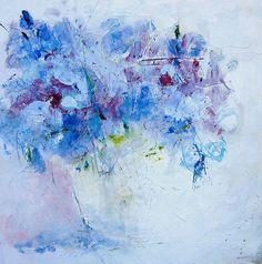 blue hydrangea by maria burtis