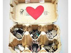Riorganizzare i bijoux; idee fai da te - Con uova di cartone