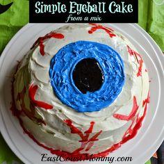 East Coast Mommy: Eyeball Cake