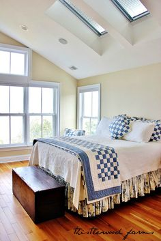 Love the simplicity of quilt in beach house post from Thistlewood Farm blogpost