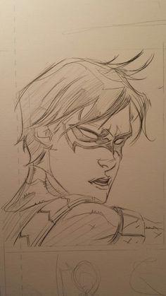 Drawing Dc Comics Awesome Art Picks: Havok, Wolverine, Zatanna, and More - Comic Vine Robin Drawing, Batman Drawing, Drawing Superheroes, Batman Art, Batman Comics, Character Drawing, Comic Character, Character Design, Comic Books Art