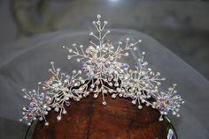 Wedding Headpieces =  8  = Snowflake Crown Tiara