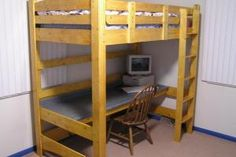 """Modern loft beds are hard to find in a world filled with amazing furniture options.This is the reason we arranged a list of Modern loft bed Ideas"""" Bunk Bed With Desk, Cool Bunk Beds, Kids Bunk Beds, Loft Beds, Build A Loft Bed, Loft Bed Plans, Desk Plans, Diy Bett, Bedding Inspiration"""