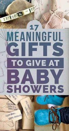 Need ideas for unique baby shower gifts? 17 Meaningful Gifts To Give At Baby Showers: Baby Showers, Baby Shower Games, Unique Baby Gifts, Personalized Baby Gifts, Baby Gifts For Boys, Creative Baby Gifts, Personalized Napkins, Gifts For New Parents, Baby Toys