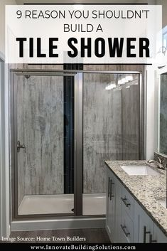 9 Reasons You Shouldn't Build a Tile Shower – Grout Free Wall Panel and Pan Alternatives –Innovate Building Solutions Shower Grout, Shower Floor, Shower Base, Small Shower Remodel, Bath Remodel, Master Bathroom Shower, Basement Bathroom, Shower Wall Panels, Small Showers