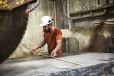 """Jake Barkley, principal founder of Kasota Stone, describes the company's Superior Northern granite as """"a deposit of rare quality."""" Stone Quarry, Engineered Stone, World Class, Sustainable Design, Case Study, Granite, Minnesota, Natural Stones, Discovery"""