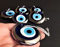Greek Evil eye, bracelet, home decor, charms, beads. by GreekEvilEyes Wedding Favors For Guests, Unique Wedding Favors, Couple Bracelets, Love Bracelets, Greek Evil Eye, Greek Wedding, Evil Eye Bracelet, Blue Beads, Sell On Etsy