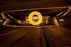 cercle ring ville toulouse road bridge tunnel light painting nicolas rivals prayse of stability Light Painting Photography, Art Photography, Paris At Night, Picasso Paintings, Behance, Best Luxury Cars, French Photographers, Contemporary Sculpture, Graphic Design Print