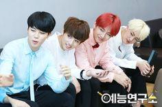 Jimin, Jungkook, V and Jin ❤ (behind the scenes of MBC Guerilla)